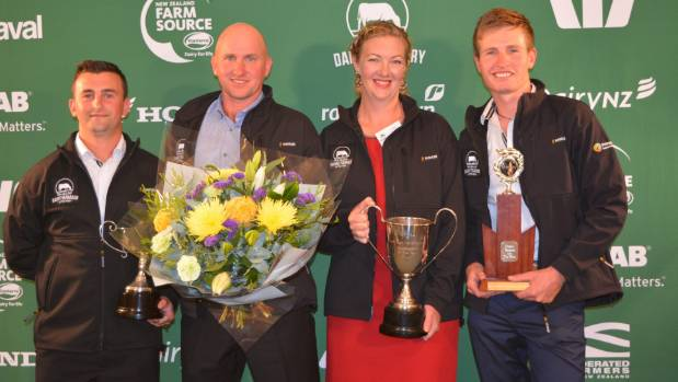 West Coast and Top of the South  Dairy Manager of the year, Jack Raharuhi , left,  West Coast-Top of the South Share ...