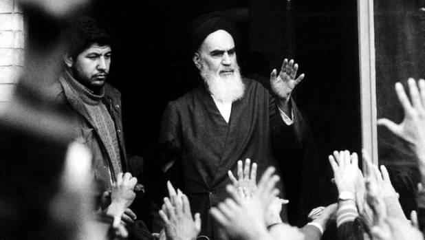 Ayatollah Khomeini in Tehran on his return from exile in 1979. Later in the year he met with a New Zealand delegation ...