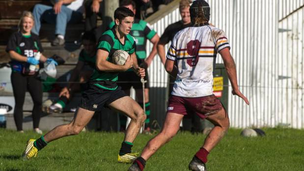 Te Kawau wing Adam Boult is the top try scorer at the halfway mark of the Manawatu club rugby season.
