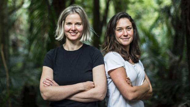 Auckland-based Mooncup distributors Vanessa Scott and Justine Cliff.