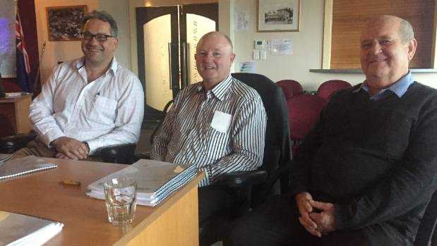 Authors of the Whanganui to Motueka ferry service feasibility study Nik Zangouropoulos, left, and Warwick Walbran with ...