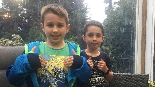 Oliver 10, and Jack 8, Leach are growing up CODA (Children of Deaf Adults).
