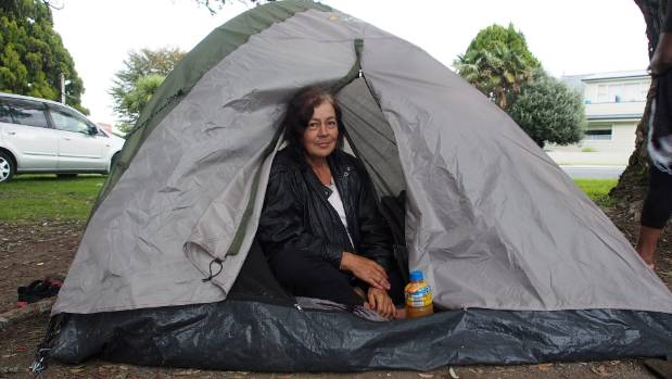 She used to sleep under the stars in the exact same spot, but one morning she woke up and someone had left her a tent.