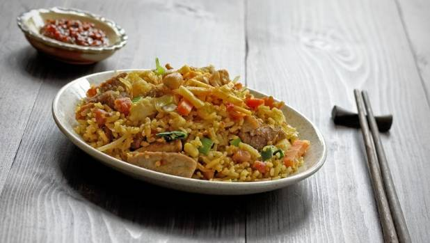 Nasi goreng, an Indonesian favourite, is often eaten for breakfast.