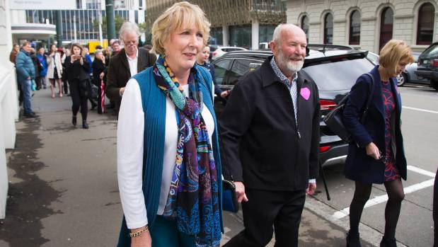 Susan Austen leaving court after her appearance on Friday.