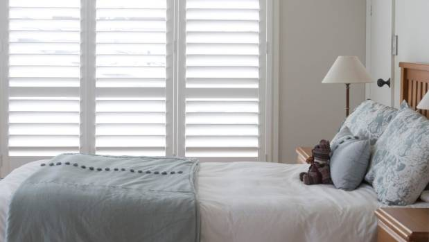 White shutters are especially popular for bedrooms in villas and bungalow-style houses.