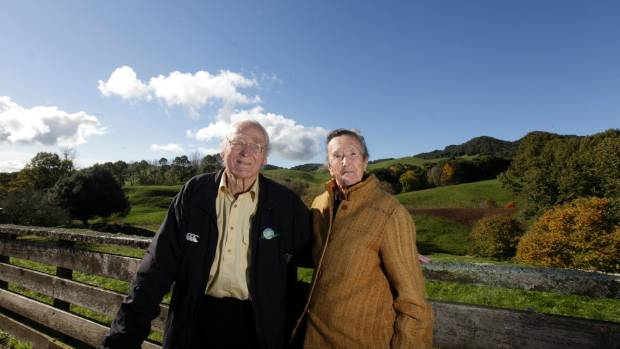 Farmers have followed the example of the late environmentalist Gordon Stephenson, pictured here with wife Celia.
