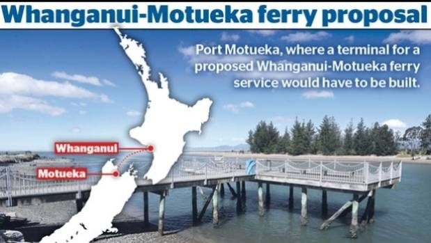 A proposed Motueka-Whanganui ferry could cut up to four hours from a typical journey from Auckland to Christchurch ...