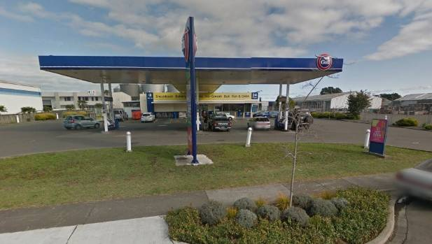 The Gull service station on Omahu Rd in Hastings was robbed at gunpoint.