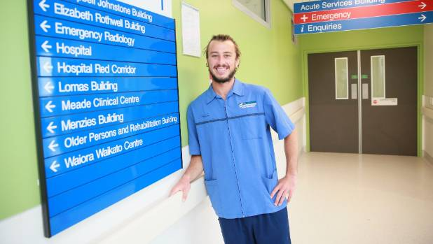 Seamus Hughes says having dreads while working at Waikato Hospital is no big deal.