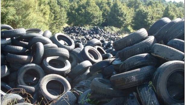 Thousands of tyres are dumped each year, causing major fire and environmental hazards.