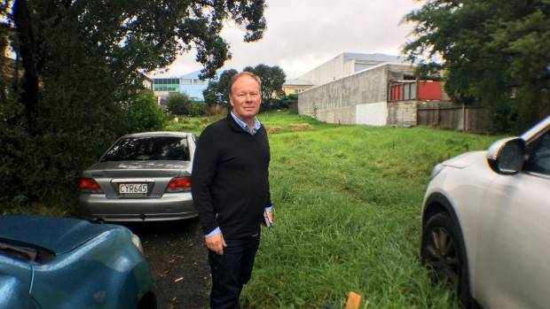 Lollipops Educare owner Grant Trethewey and the site where the building will be built. His childcare centre is on the ...