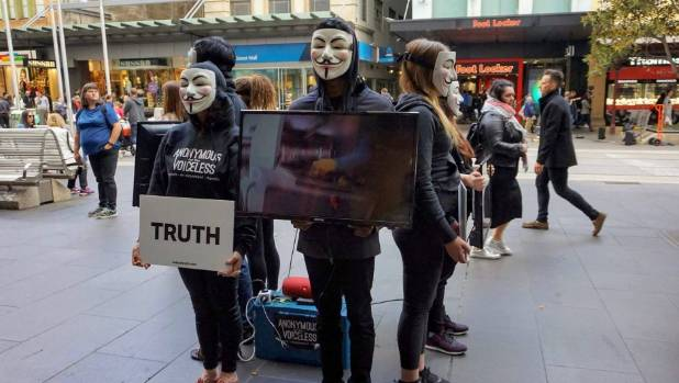 The activists will screen either overseas animal cruelty documentary Earthlings or footage from New Zealand animal ...