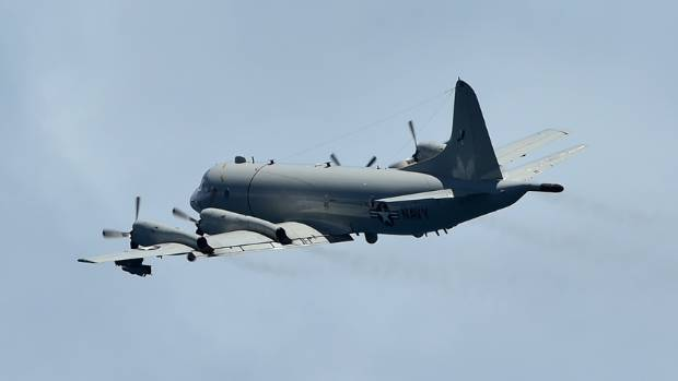 A New Zealand Air Force P-3K2 Orion aircraft spotted the suspicious vessel, and called in the Australian navy.