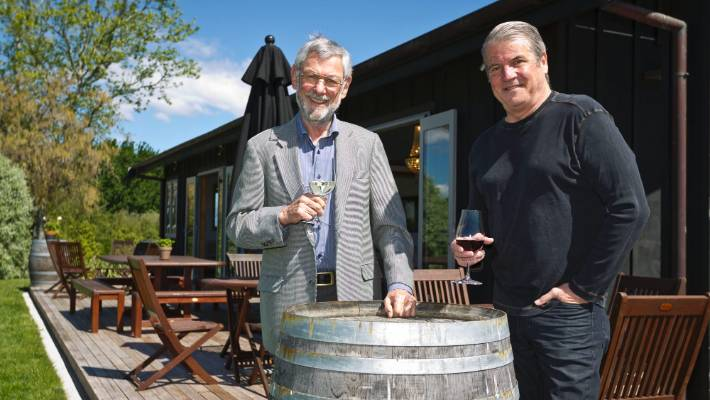 Philip Woollaston, left and Glenn Schaeffer established Woollaston Estates Winery together in 2001. It's name was later changed to Mahana Estates.