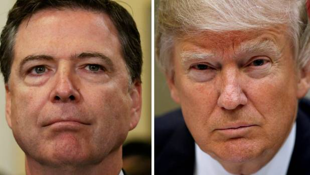 US President Donald Trump was seemingly determined to fire FBI Director James Comey, left, and asked the Justice ...