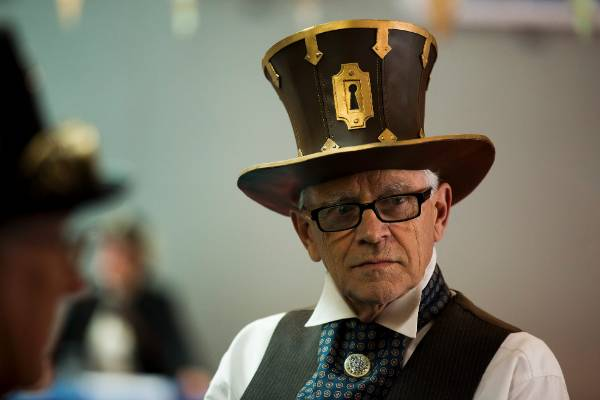 Terry Sheehan's has his steampunk hat style on lock with this handmade hat.