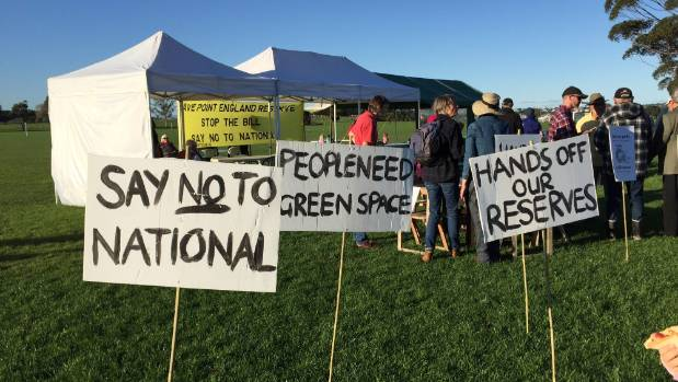 The community has been rallying against the selling of 12 hectares of Point England Reserve.