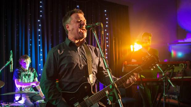 The Chills in Raglan with bandmates with Todd Knudson on drums and Oli Wilson on keys.