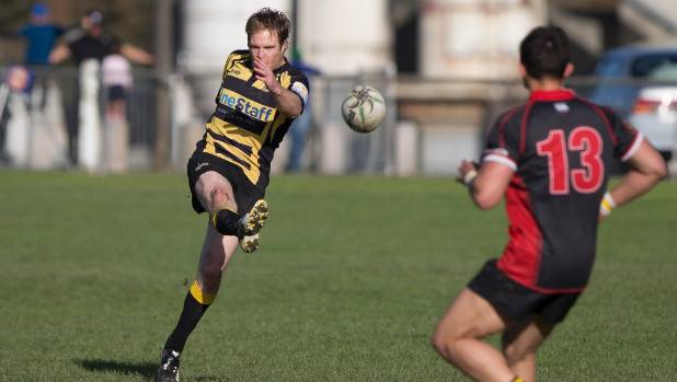 Feilding's Brad Carr was playing his 300th game against Te Kawau on Saturday.