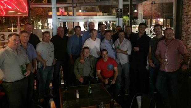 The 1997 Hankins Shield winning Te Kawau side during their 20-year reunion in 2017. They beat Feilding Old Boys in the ...