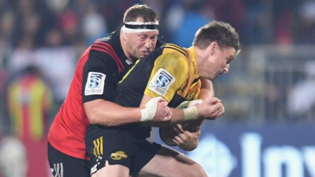 The Crusaders shut down Beauden Barrett in Christchurch on Saturday.