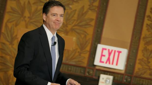 FBI director James Comey was thrown out the exit by US President Donald Trump last week.