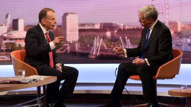 Britain's Defence Secretary Michael Fallon told the BBC's Andrew Marr the UK government was spending around £50 million ...