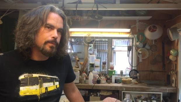 Artist Mark Goody is creating salt-fired ceramics.