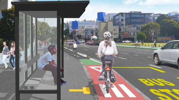 An artist impression of the proposed redesign of the Victoria St and Beaumont St.