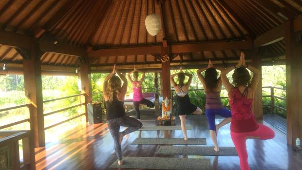 Soul Journeys yoga class during the Bali Retreat.
