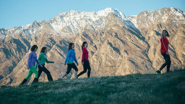 Soul Journeys participants hike the hills behind Queenstown.
