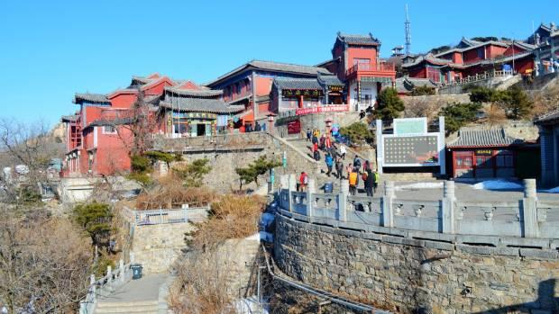 China's most sacred mountain, Taishan or Mount Tai.