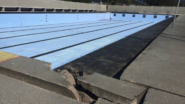 The Lions Pool in Kaikoura was badly damaged in the earthquake and is likely to be written off.