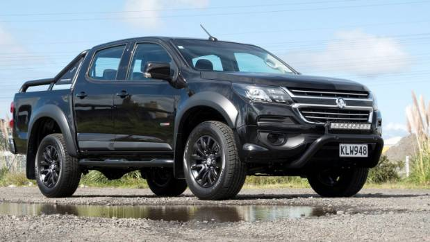 This is the Ford....no it's not, it's the new Holden Colorado Blackout.