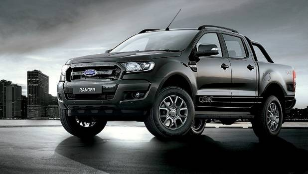 This is the Holden....no it's not, it's the new Ford Ranger FX4, painted Shadow Black.