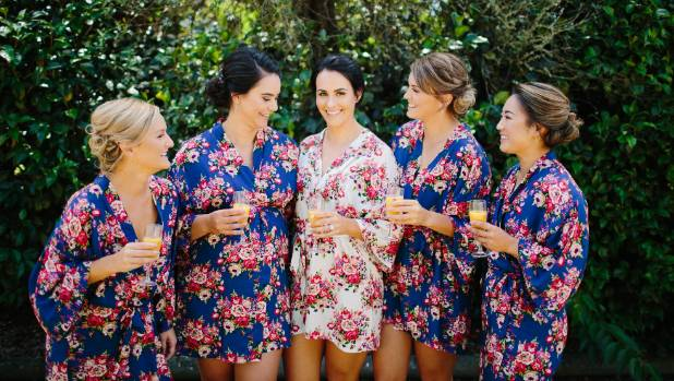 Caitlin and her four bridesmaids.
