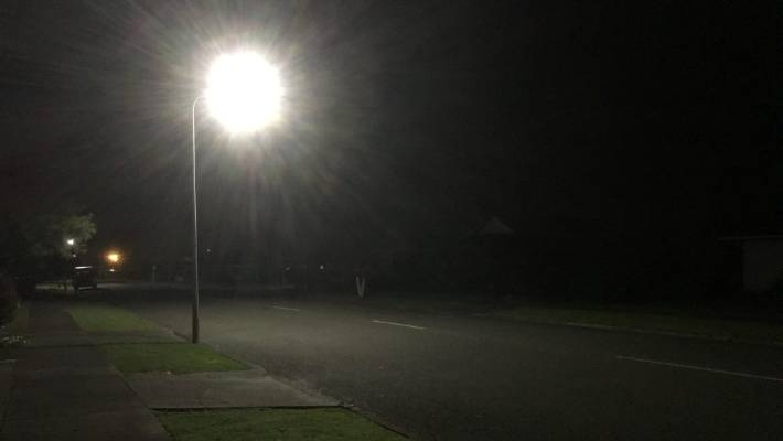 Pools Of Light From The New Led Streetlights Captured By Palmerston North Resident Jane Mullaney