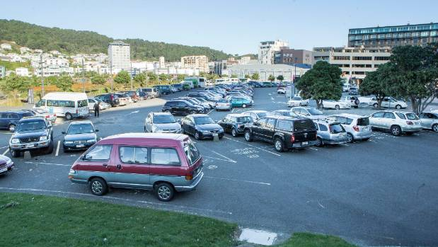The car parking area at Barnett St next to Te Papa which has already & Freedom camping u0027inevitableu0027 as Wellington comes up short on ...
