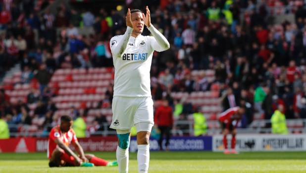 Swansea City's Martin Olsson, one of the club's foreign legion.