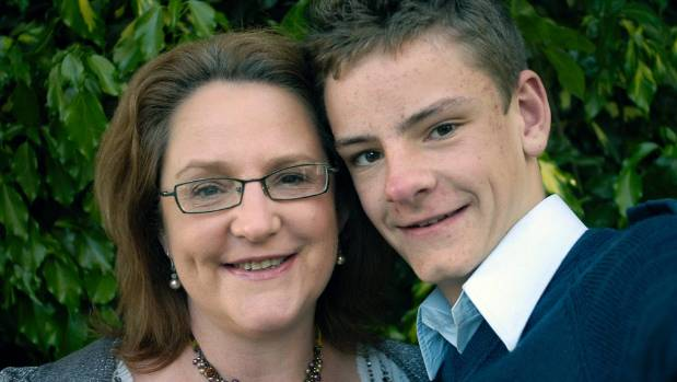 Harry McLean, pictured with his mother, Maria Dillon, died at Hillmorton Hospital in Christchurch in November 2013.
