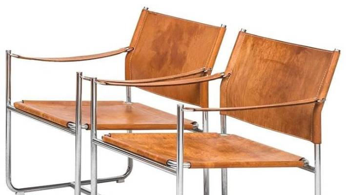 This pair of leather Easy Chairs by Karen Mobring for Ikea are being sold by 1stdibs  sc 1 st  Stuff.co.nz & Vintage Ikea furniture selling for $80000   Stuff.co.nz