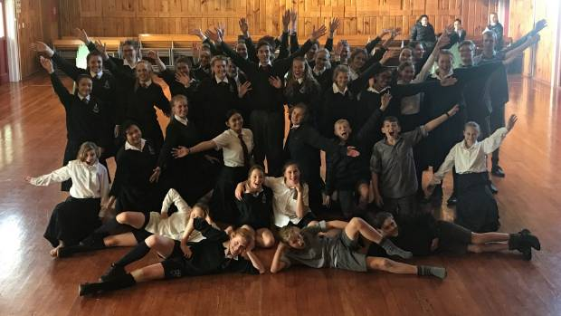 The students from Waimate High School which will be taking part in the Stage Challenge 2017 in Christchurch on Thursday.