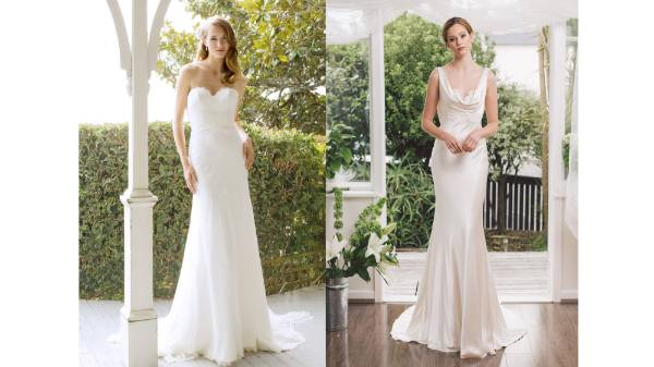 JANE YEH The Olivia gown with a strapless sweetheart neckline and fitted bodice falling into a full skirt or the very