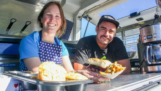 The Azul Food Truck team of Genevieve King and Jordy Judge.