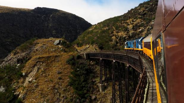 Enjoy the Taieri Gorge Railway on a half-day trip on a vintage train.