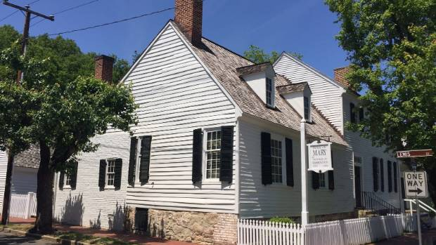 The Mary Washington House at Charles and Lewis streets in Fredericksburg, Virginia. The mother of George Washington ...