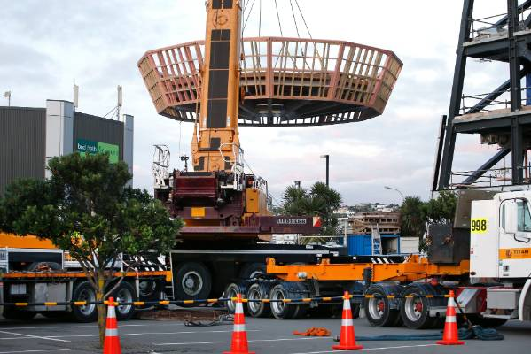 Airways New Zealand is constructing a new air traffic control tower for Wellington airport pictured. The tower cab roof ...