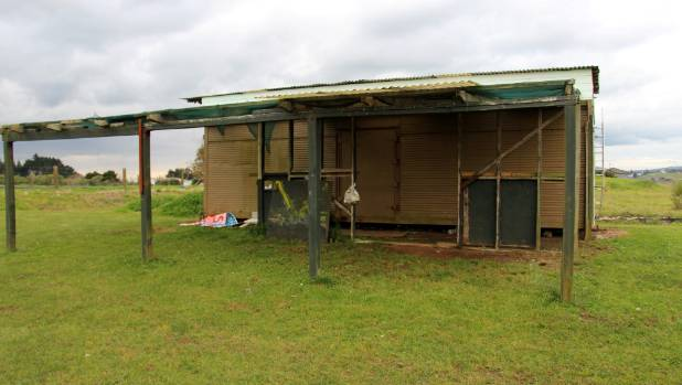 This current shipping container is used as a kitchen by the league club.