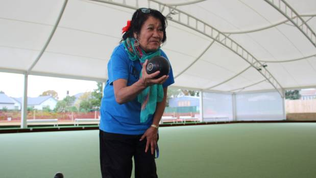 Dianne Tamati, 72, says she is loving bowling under the new roof at New Lynn.